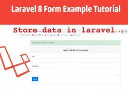 save data in laravel
